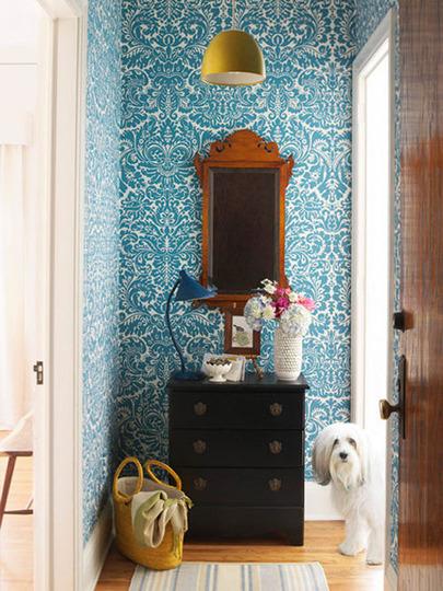Jazz Up your Entryway with Wallpaper   DecoratorsBest Blog