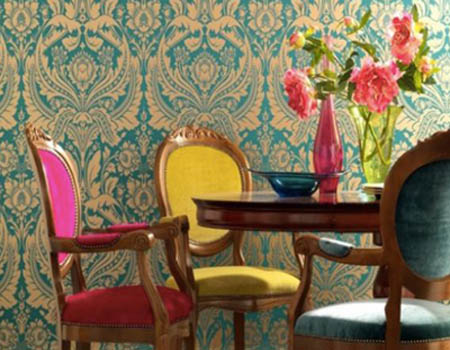 paintable embossed damask wallpaper