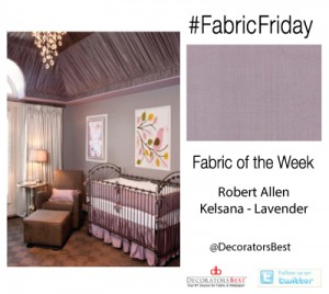 Decorators Best Fabric Friday Robert Allen Lavender Silk Tented Decorative Ceiling Interior Decor Design Ideas
