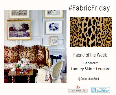 Fabric Friday Leopard Print Upholstery Couch Fabricut Lumley Skin Interior Decor Ideas Inspiration Funky Design Decorators Best