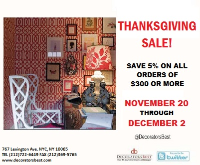 DecoratorsBest Thanksgiving Sale Black Friday Deals 5% Off On Orders $300 Or More Holiday Deals Sales Promotions Interior Decor