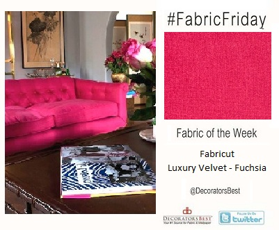 DecoratorsBest Decorators Best Fabric Friday Staff Pick Luxury Velvet in Fuchsia