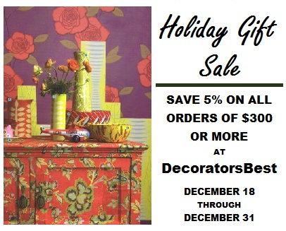 Wallpaper Wednesday DecoratorsBest Decorators Best Holiday Sale Interior Decor Wallpaper Fabric Save 5% On All Orders of $300 Or More