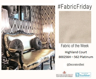DecoratorsBest Decorators Best Fabric Fabric Friday #FabricFriday Platinum Metallic Highland Court 800256H-562