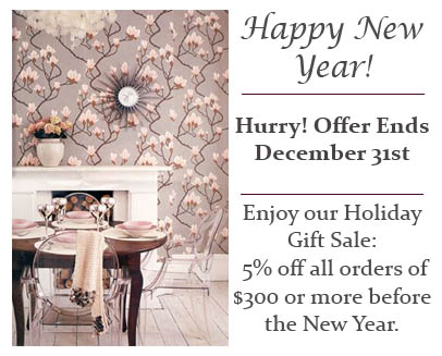 Happy New Year Sale - 5% Off All Orders $300 Or More DecoratorsBest Interior Decor Promotion