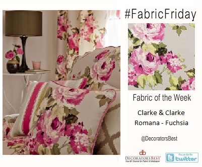 DecoratorsBest Decorators Best Fabric Friday Interior Décor Ideas Trends Inspiration Floral Fabrics Clarke & Clarke Romana Fuchsia
