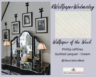 DecoratorsBest Decorators Best Wallpaper Wednesday Interior Décor Ideas Trends Inspiration Decorating Design Cole and Son Quilted Lacquer Creme