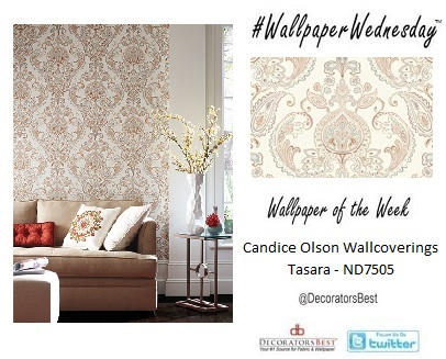 Elegant Interior Decor Candice Oslon Wallpaper Tasara DecoratorsBest