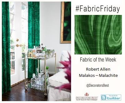 DecoratorsBest Decorators Best Emerald Green Fabric Friday Robert Allen Malakos Malachite Drapery Interior Decor Decorating Design Ideas Trends Inspiration
