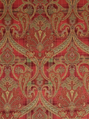 Scalamandre Highland Fling - Reds and Pink Fabric at DecoratorsBest16316-001
