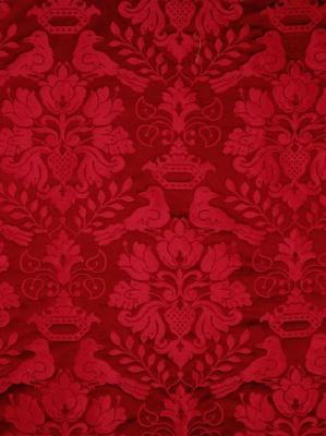 1098MM-016 Scalamandre Silk Fabric - Love Bird - Georgian Red at DecoratorsBest