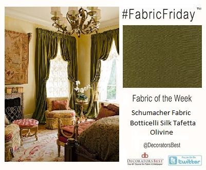 Elegant  Interior Décor Ideas Fabric Botticelli silk Schumacher Fabric Friday
