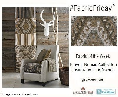 travel inspired designs  decorators best  kravet nomad chic upholstery designer fabric  interior design