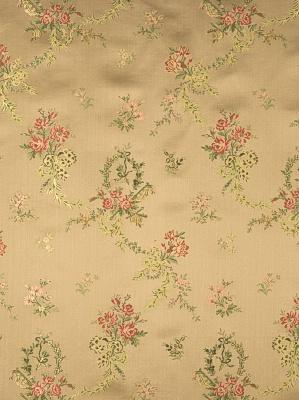 Fabricut Delphine Autumn 2331001 Embroidered Tan Fabric