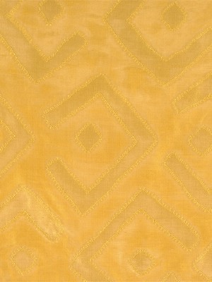 Scalamandre Fabric - Kuba -  Yellow and Gold at DecoratorsBest