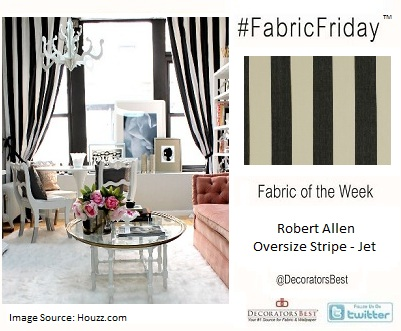 stripes, decorators best, Robert Allen,  interior design inspiration, designer fabric,  discount fabric, black and white, Interior Decorating Trends, Decor