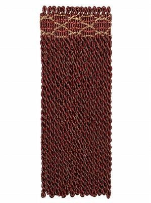 Fabricut Fringe Trim - Anglaise - Mahogany at DecoratorsBest
