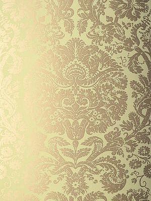 Schumacher Wallpaper Barresa Damask - Celadon 5003752