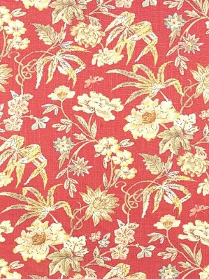 Stout Fabric - Borneo 1 - Coral at DecoratorsBest