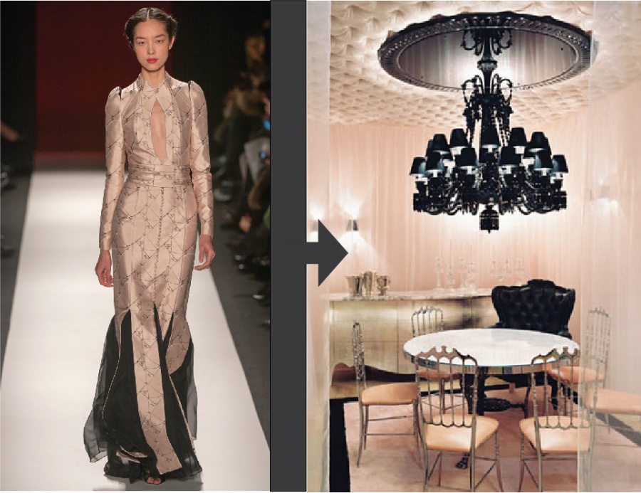 New York Fashion Week Fall 2013 NYFW Carolina Herrera Old Hollywood Glamour Romantic Room Decor