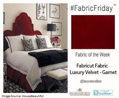 Fabric Friday Romantic Interior Decor Red Velvet Bed Headboard