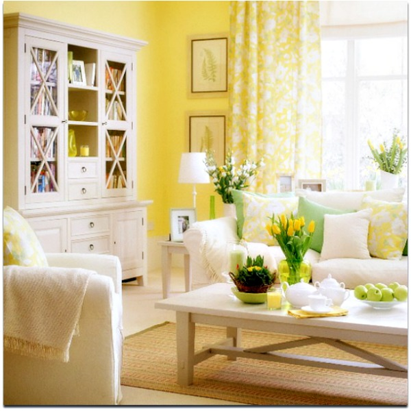 Light Yellow Pastel Interior Decor