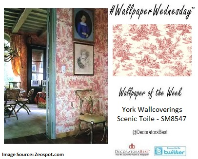 York Wallcoverings, decorators best, country, toile, interior décor inspiration, discount wallpaper, design trends