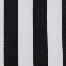 Black and white stripe fabric Duralee 32081-176 Midnight