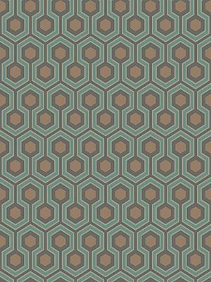 Cole & Son Wallpaper CS 95/3018 Hicks Hexagon Teal Gold