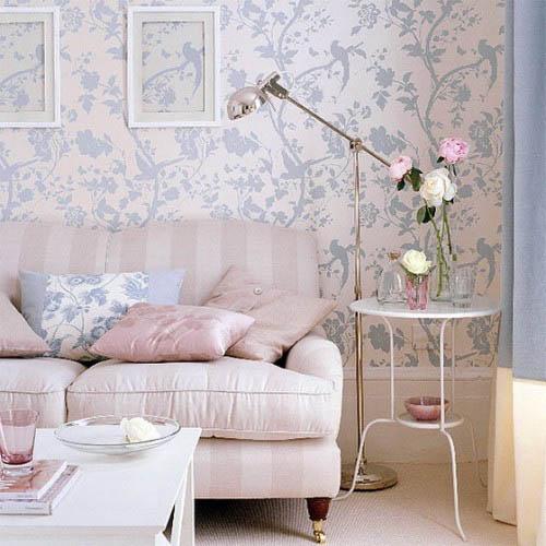 decorators best lavender wallpaper spring fabrics interior design ideas - Decorators Best