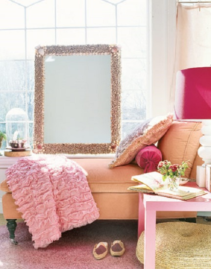 Pastel Pink And Orange Interior Decor Ideas Inspiration Spring 2013