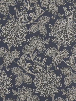 Robert Allen Blue Floral Paisley FabricGarran Gardens - Hydrangea