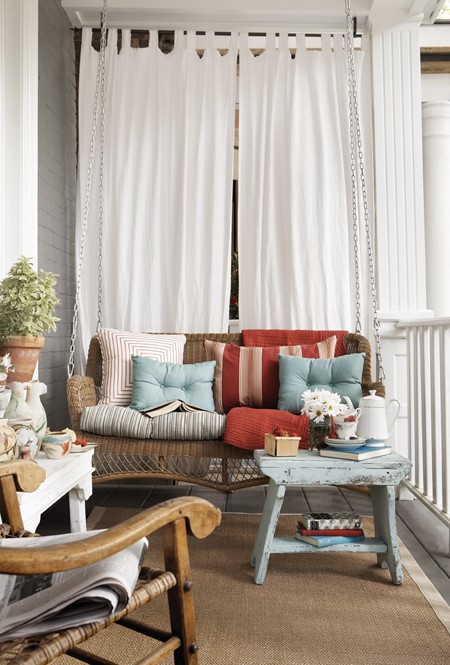 Terrace Decorating Ideas Outdoor Pillows Fabric