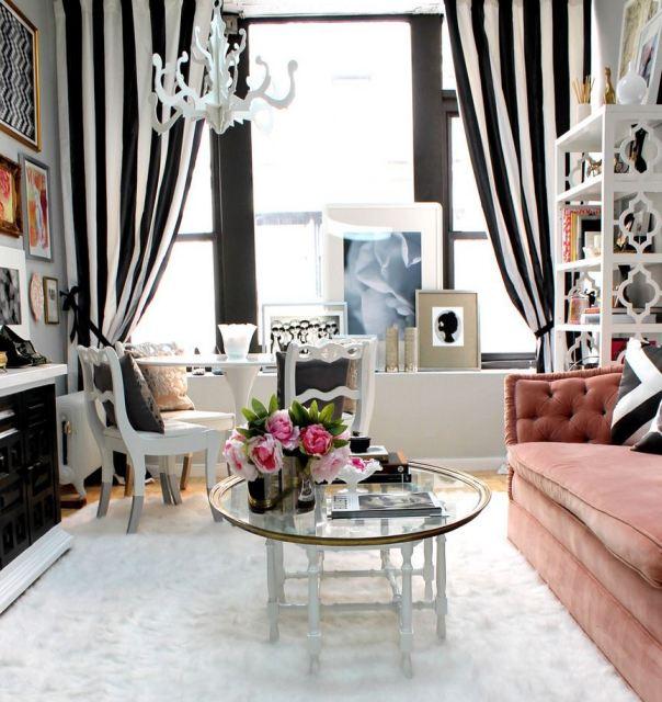 • stripes, decorators best, Robert Allen, interior design inspiration, designer fabric, discount fabric, black and white, Interior Decorating Trends, Decor