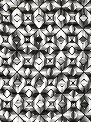 Schumacher Trina Turk Indoor Outdoor Fabric Amazing Maze Kohl 65322