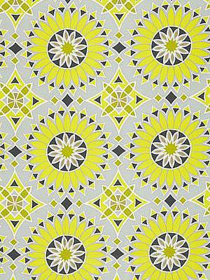 Schumacher Trina Turk Indoor Outdoor Fabric Soleil LA Print Driftwood 174731