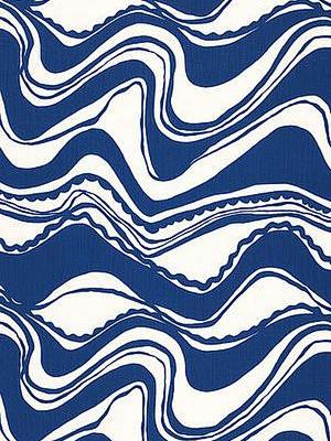 Schumacher Fabric Carmel Coastline Print Surf Sch 174690