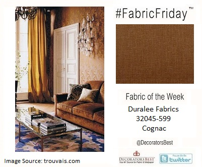 Decorators Best, Duralee Fabrics, Bronze, Metallics, Cognac, interior décor, inspiration, Fabric Friday