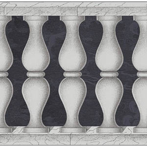 Cole And Son Fornasetti Collection Vol II Balaustrada Midnight & Silver Wallpaper 97 3009
