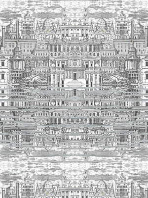 Cole And Son Fornasetti Wallpaper Riflesso White 77 14051