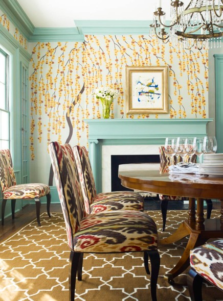 Decorators Best Unusual Dining Room Ideas Ikat Interior Decor