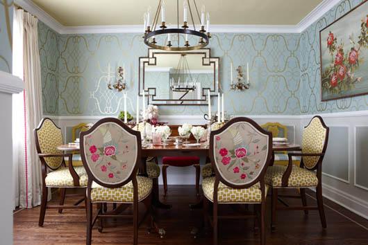 Decorators Best Unusual Dining Room Ideas Mixing Prints Interior Decor