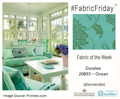 Decorators Best, décor inspiration, Duralee, Floral, outdoor décor, ocean pattern, 2013 design trends