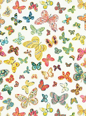 Schumacher Fabric Butterfly-Multi 174900