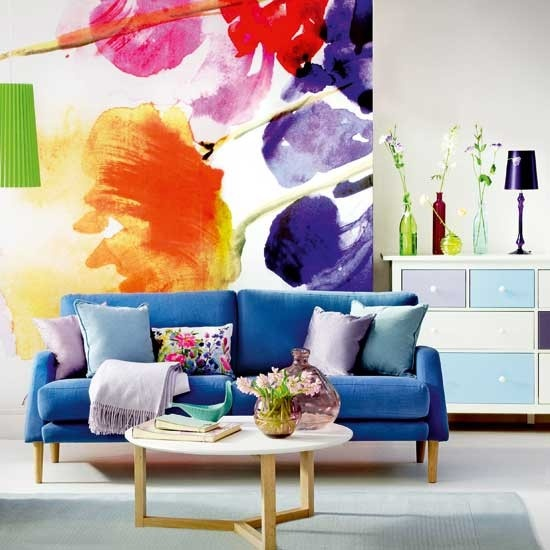 bold floral nature spring inspired interior decor