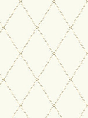 Cole & Son Wallpaper Button Trellis - Gold On White 91_9040_CS
