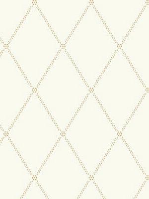 Cole & Son Wallpaper Button Trellis - Gold On White 91_9040_CS