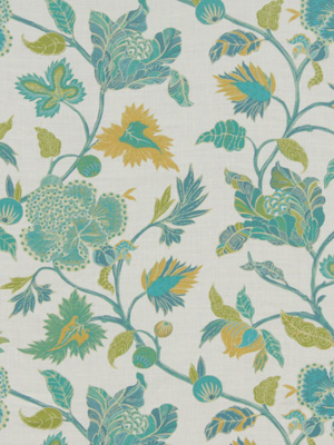 Beacon Hill Midnight Garden Collection Enchanted Vine Emerald Fabric