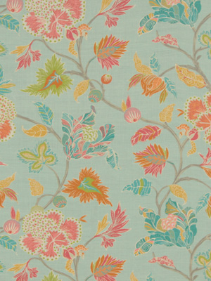Beacon Hill Midnight Garden Collection Enchanted Vine Mint Fabric