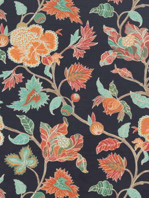 Beacon Hill Midnight Garden Collection Enchanted Vine Navy Fabric